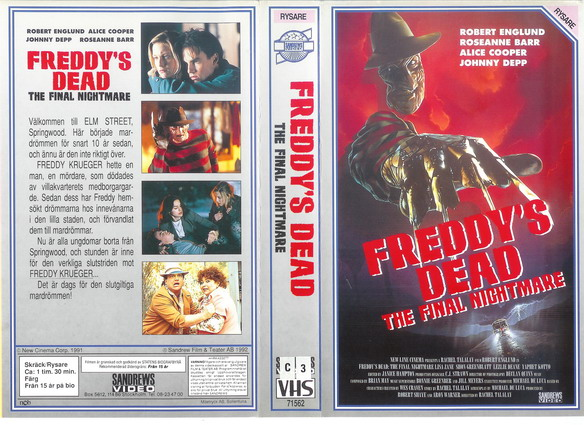 FREDDYS DEAD-FINAL NIGHTMARE (VHS)