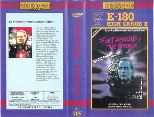 FORT APACHE,THE BRONX (vhs)