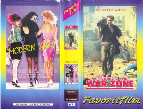 729 witness in the warzone/modern girls (VHS)