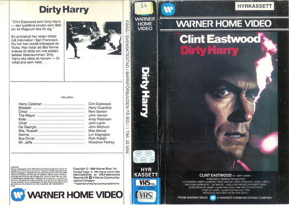 DIRTY HARRY (VHS)