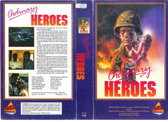 1111 ORDINARY HEROES (VHS)