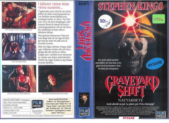 374 Graveyard SHIFT (VHS)