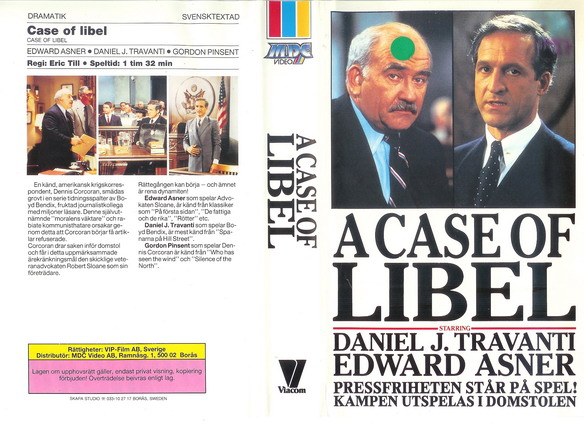 A CASE OF LIBEL  (VHS)