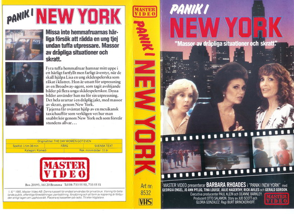 8532 PANIK I NEW YORK (vhs)