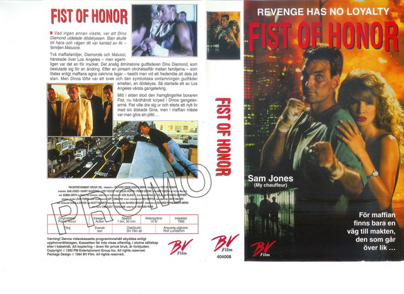 FIST OF HONOR (vhs)