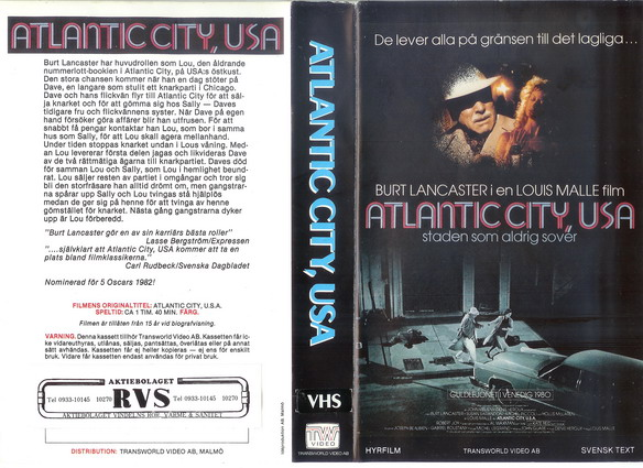 ATLANTIC CITY,USA  (VHS)