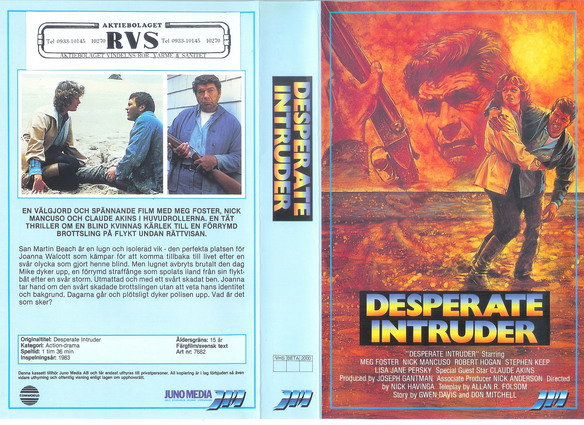 7682 DESPERATE INTRUDER (VHS)