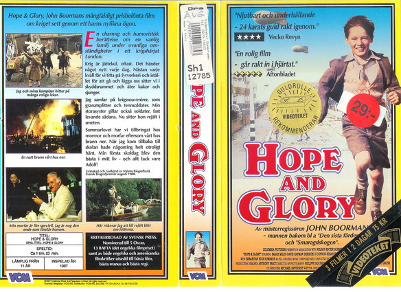 147 Hope And Glory (VHS)