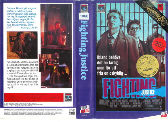 FIGHTING JUSTICE (VHS)