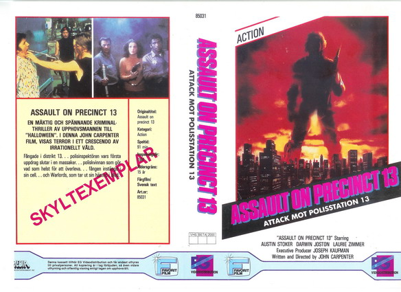 85031 ATTACK MOT POLISSTATION 13 (vhs)