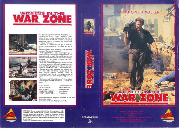 1101 WITNESS IN THE WAR ZONE (VHS)