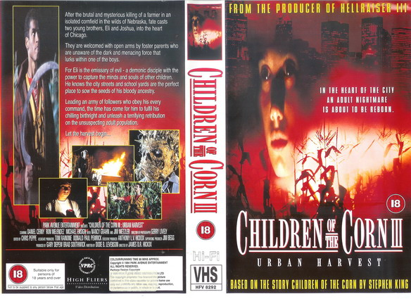 CHILDREN OF THE CORN 3-UK (VHS)