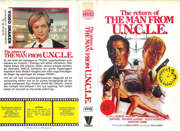 RETURN OF THE MAN FROM U.N.C.L.E (VHS)