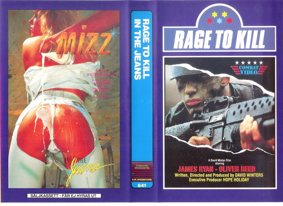 641 RAGE TO KILL+IN THE JEANS (vhs)