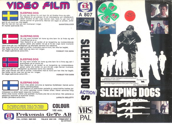 A807-SLEEPING DOGS  (VHS)