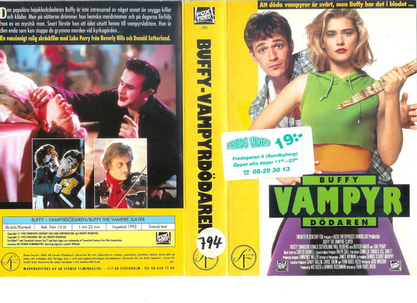 BUFFY VAMPYR DÖDAREN (VHS)