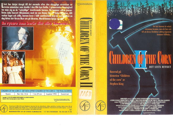 CHILDREN OF THE CORN 2 (VHS)