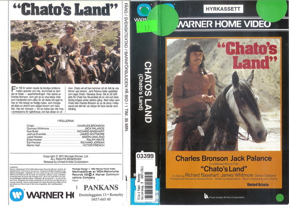 CHATO'S LAND (VHS)