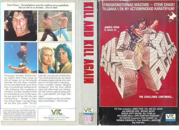 8343 KILL AND KILL AGAIN (VHS)