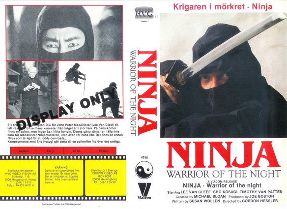 4745 NINJA:WARRIORS OF THE NIGHT (vhs)