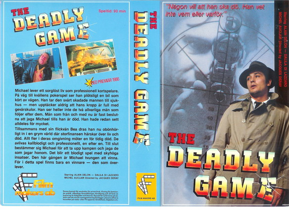 DEADLY GAME (VHS) master