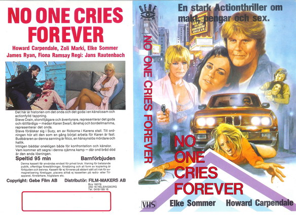 NO ONE CRIES FOREVER (VHS)