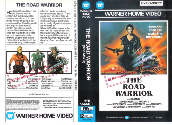 ROAD WARRIOR-MAD MAX 2 (VHS)
