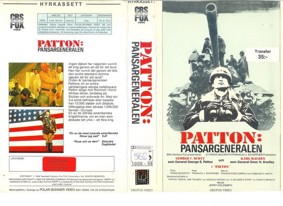 PATTON PANSARGENERALEN