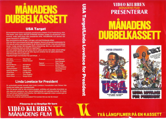 USA TARGET+LINDA LOVELACE FOR PRESIDENT (vhs)