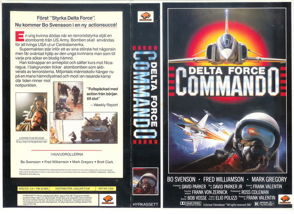 7306 DELTA FORCE COMMANDO (vhs)