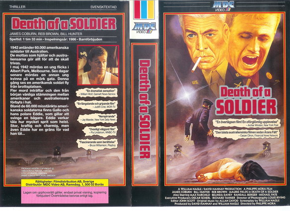 DEATH OF A SOLDIER  (VHS)