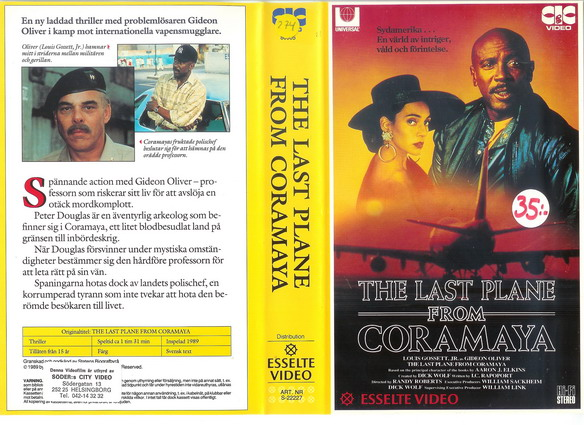 LAST PLANE FROM CORAMAYA (VHS)