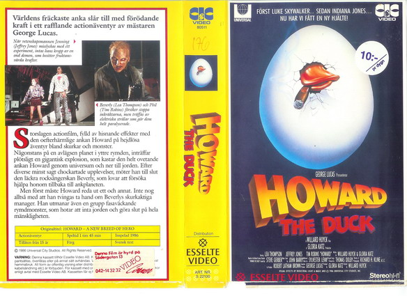 HOWARD THE DUCK (VHS)