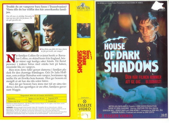 27081 HOUSE OF DARK SHADOWS (vhs)