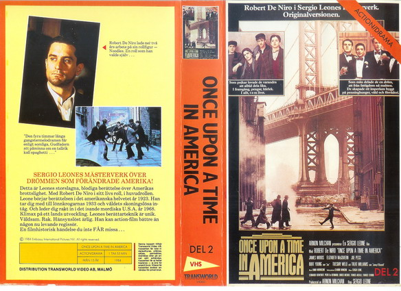 ONCE UPON A TIME IN AMERICA DEL 2 (Video 2000)