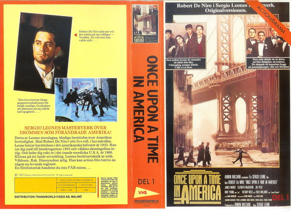 ONCE UPON A TIME IN AMERICA DEL 1  (Video 2000)