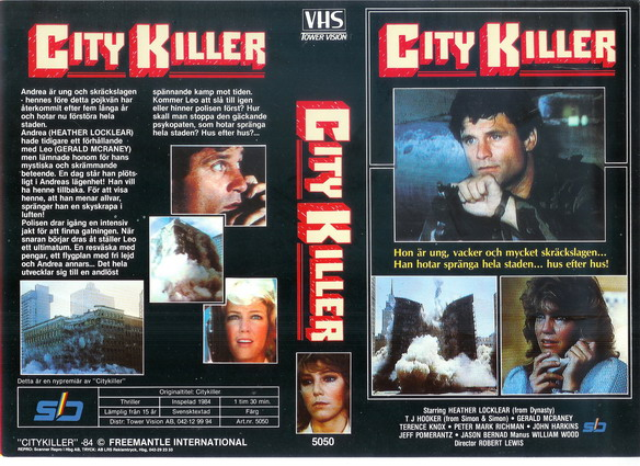 5050 CITY KILLER - svart omslag (VHS)
