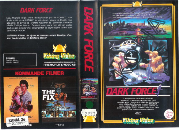 DARK FORCE (VHS)
