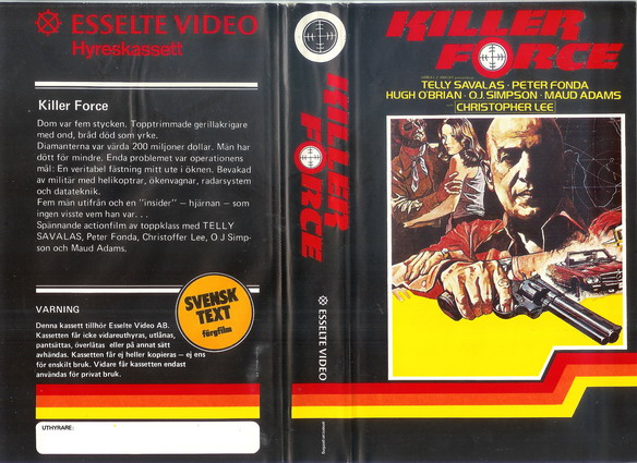 KILLER FORCE  (VHS)