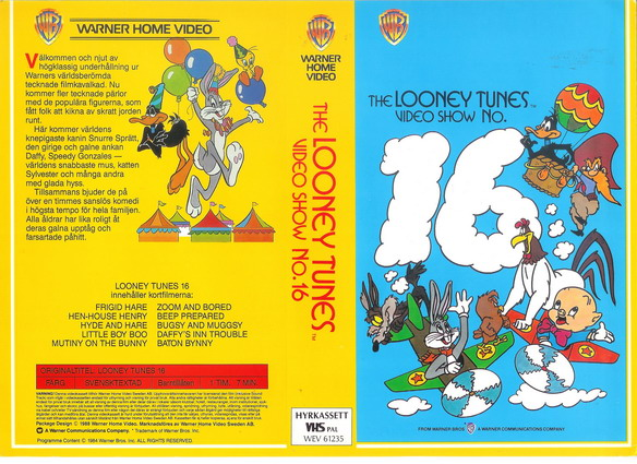 LOONEY TUNES 16 (VHS)