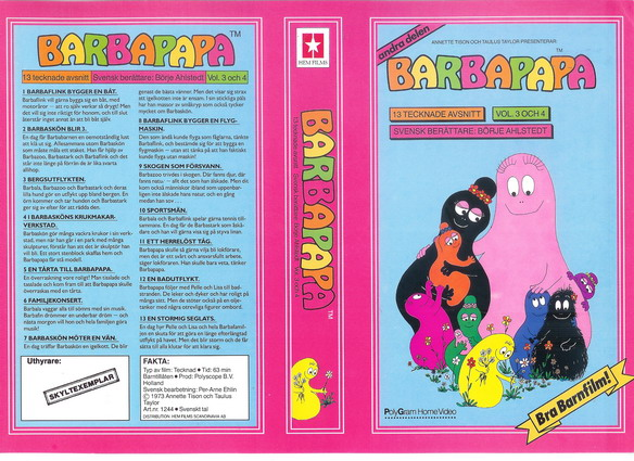 BARBAPAPA VOL 3-4 (RÖD)