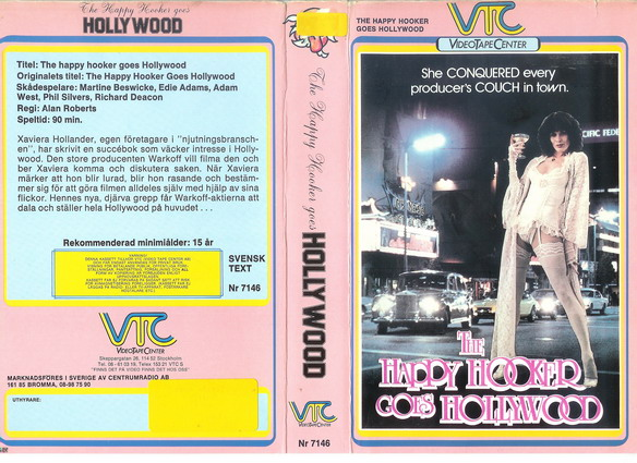 VTC  orange 7146  HAPPY HOOKER GOES TO HOLLYWOOD (VHS)