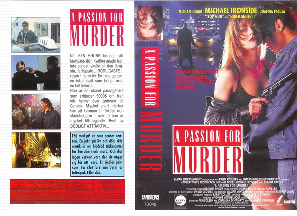 A PASSION FOR MURDER (VHS)
