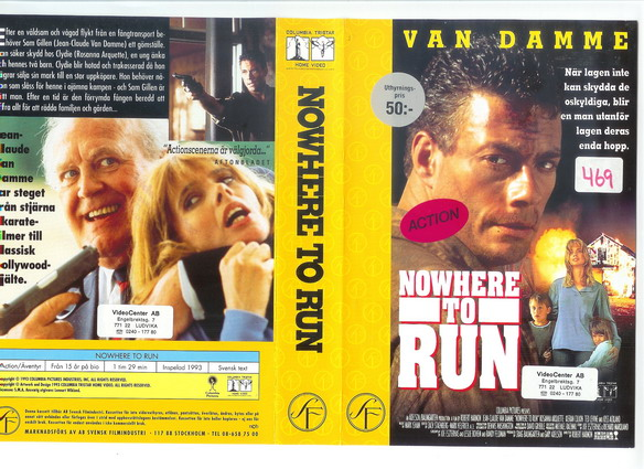 NOWHERE TO RUN (VHS)