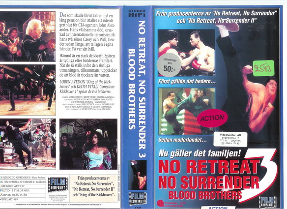 450 NO RETREAT NO SURRENDER 3 (VHS)