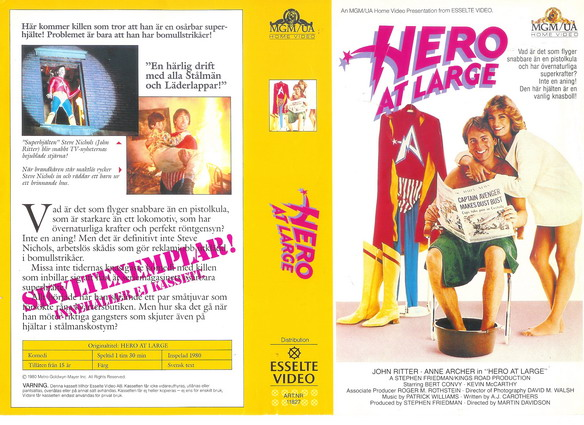 HERO AT LARGE (VHS)