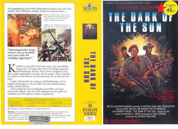 11838 DARK OF THE SUN (vhs)