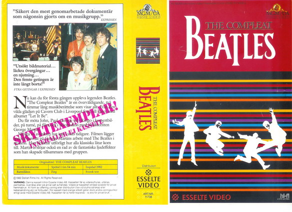 11738 COMPLEAT BEATLES (VHS)