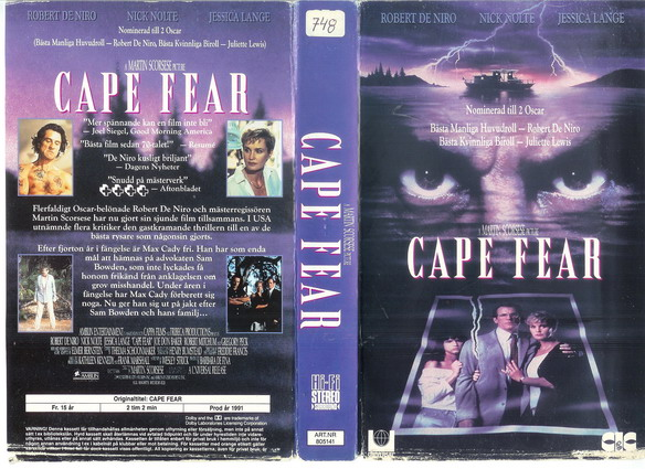 CAPE FEAR(VHS)