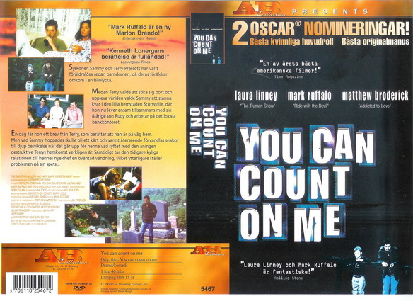 5467 YOU CAN COUNT ON ME (VHS)